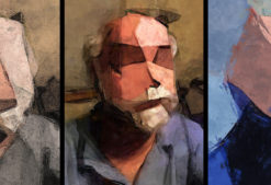 Steve - Self Portrait - Triptych